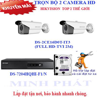 Trọn bộ 2 camera FULL HD HIKVISION 2.0 (IT3)