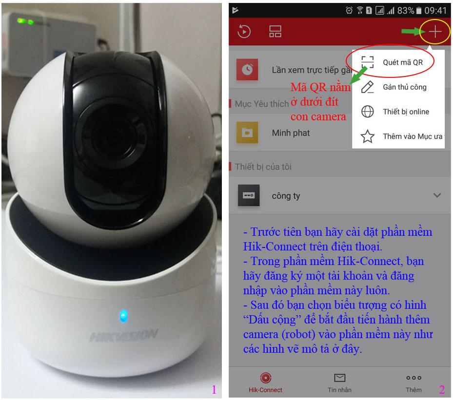 Hướng dẫn cài đặt camera wifi dòng Q1 của Hikvision